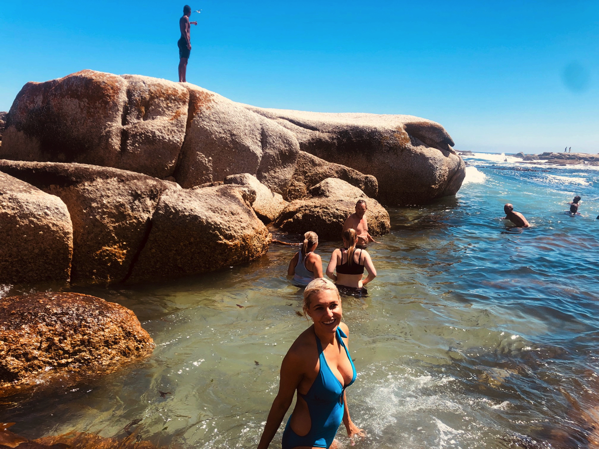 Cold water swimming in Cape Town